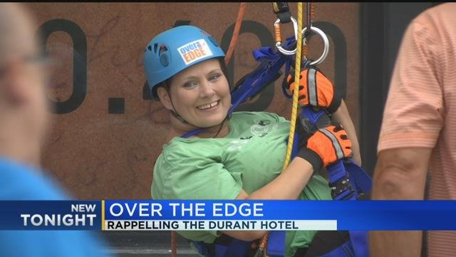 Over the Edge; rappelling the Durant Hotel