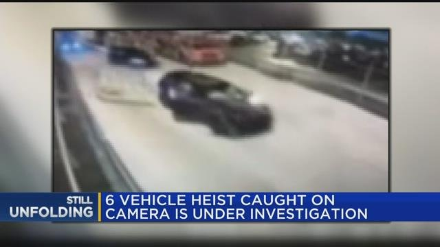 Video: Six SUVs stolen from Michigan plant in heist