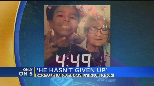 Dad talks about gravely injured son
