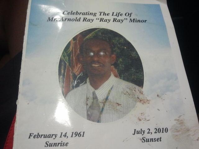 Memorial for Arnold Minor/photo Tia Ewing