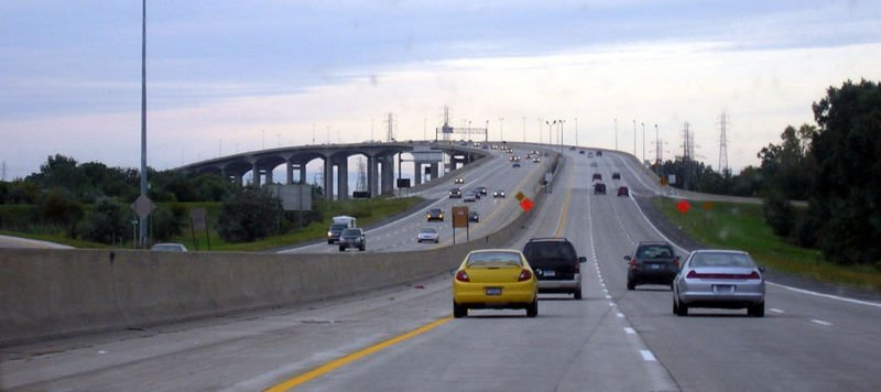 I-75 over Zilwaukee Bridge in Saginaw County