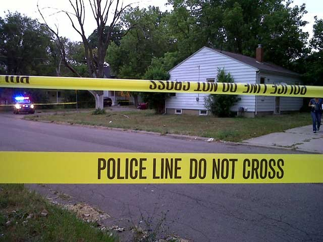 The house where the shooting took place.