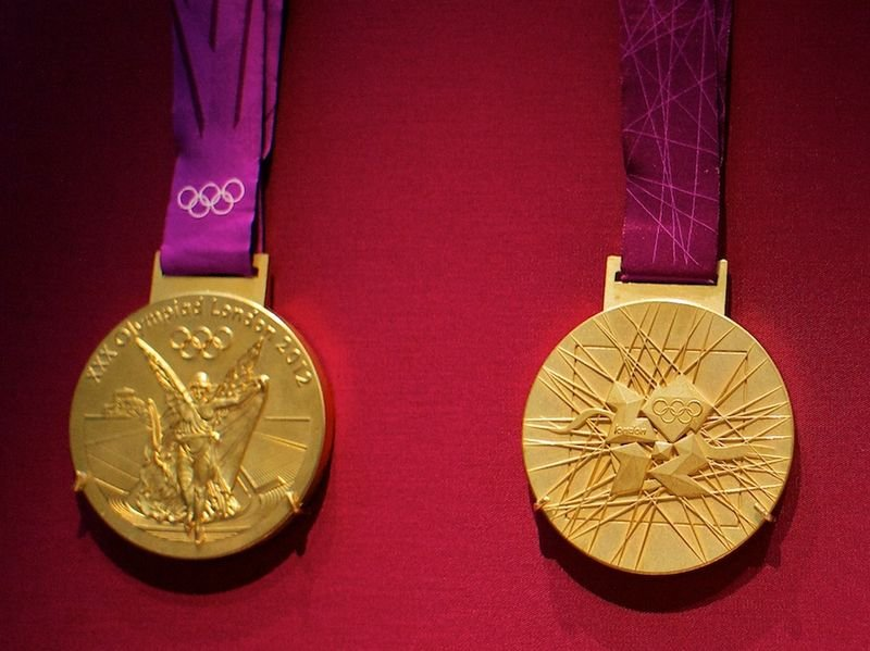 A gold medal from the 2012 Olympics
