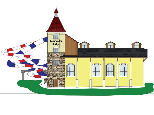 Bavarian Inn Lodge renovation rendering