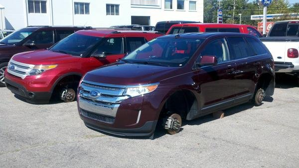 Wheel Thieves Strike Local Ford Dealership WSMV Channel - Nearest ford dealership