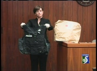 Evidence being presented in the Ken Bluew trial.