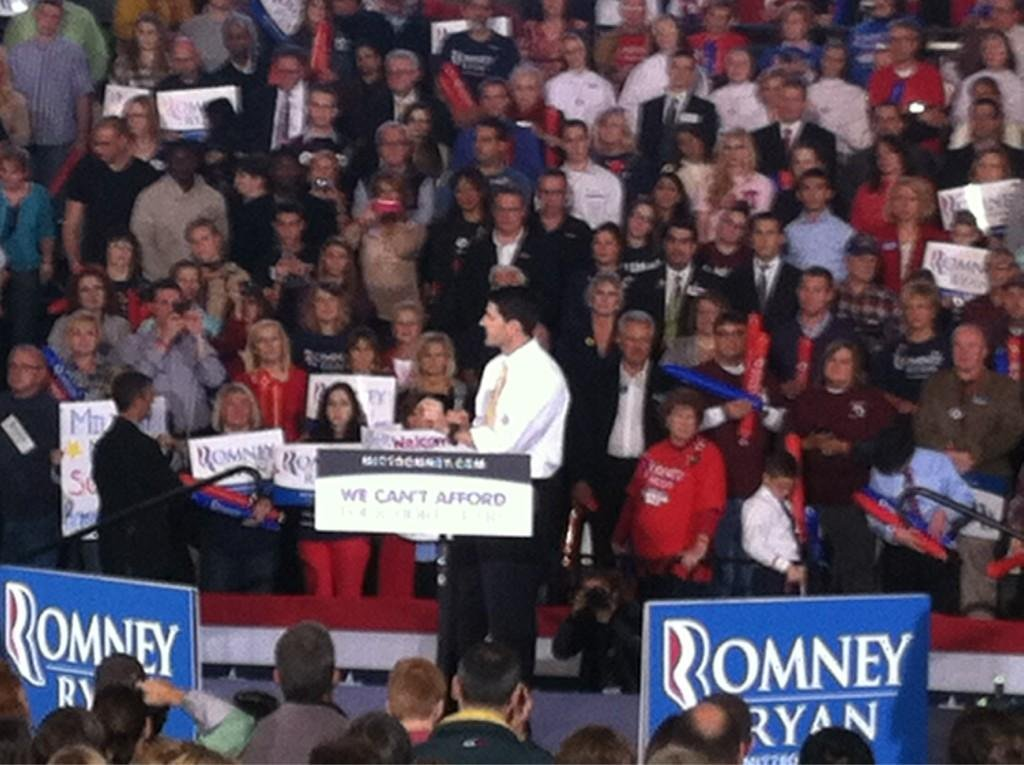 Vice Presidential hopeful Paul Ryan addresses crowd at Oakland University
