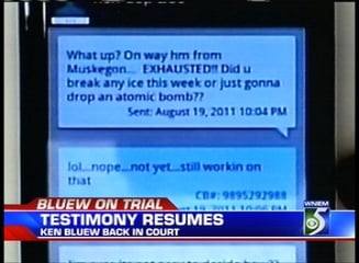 Another text shown to the jury on Tuesday.