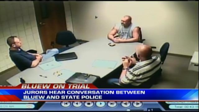 Ken Bluew talking with investigators.