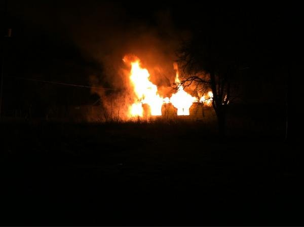 Arson fire on Hobson, near Saginaw St. in Flint