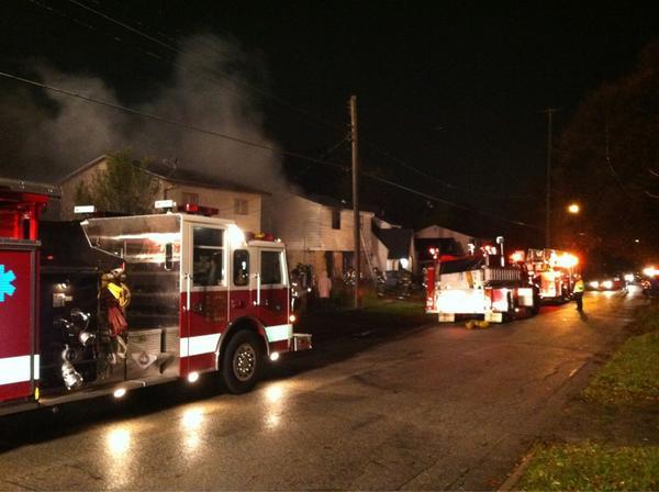 Arson fire on E. Lyndon, near Saginaw St. in Flint