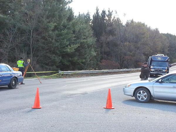The crime scene in Mt. Pleasant.