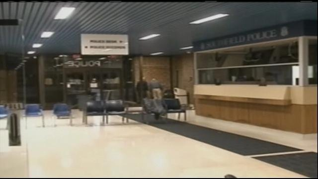 The view inside police headquarters.