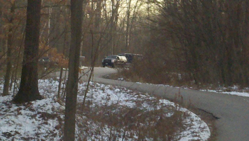 The MSP crime lab at the scene near Edenville.