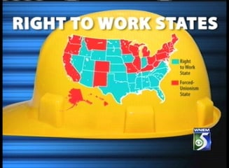States that are Right to Work.