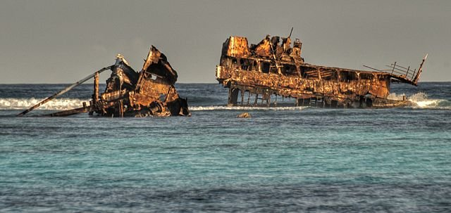 Not actual shipwreck photo