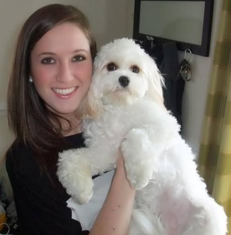 Jenna Brown and her dog, Mollie.
