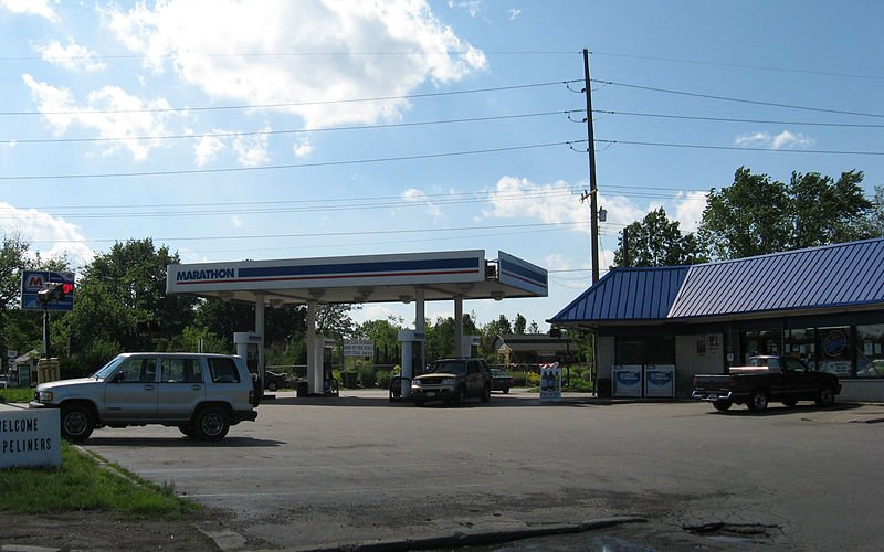 A Marathon Gas Station.