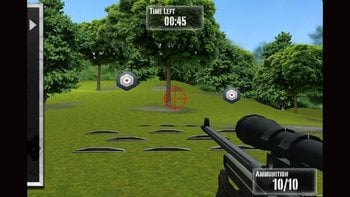 A screen shot of a video game app released by the NRA on Tuesday.