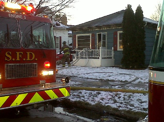 House fire at 711 South Bates
