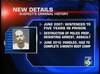 Details of Eric Ramsey's criminal history.