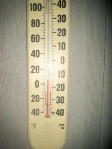 A thermometer photo posted by a TV5 fan on our Facebook page.