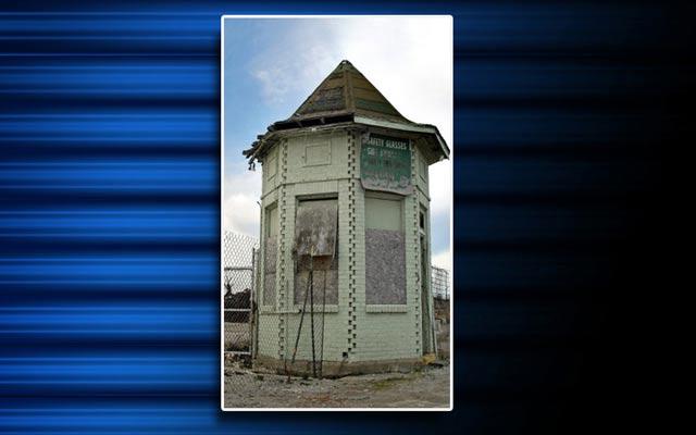 The guard shack.