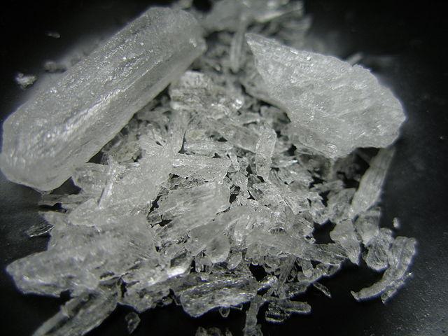 Methamphetamine in crystalline form