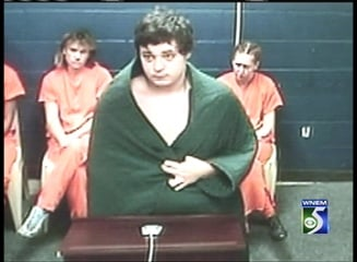 Jeramy David Wagner during his arraignment on closed-circuit TV.