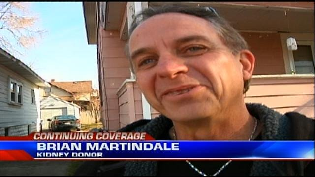 Kidney donor Brian Martindale.