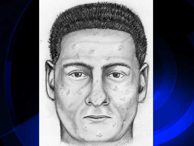 Composite drawing showing the armed robber.