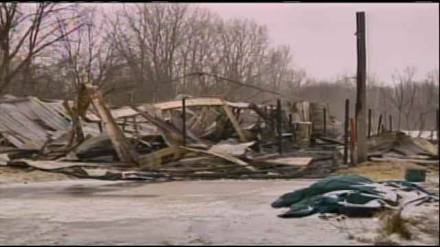 Officials say a fire that killed 10 horses in Burton has been deemed suspicious.