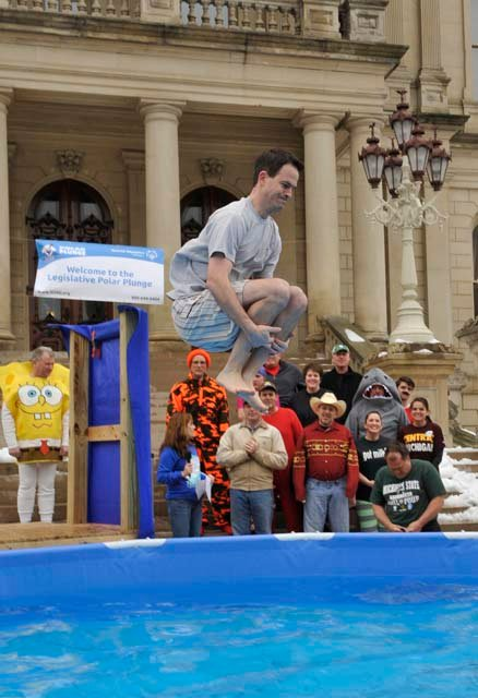 Cotter taking the plunge.
