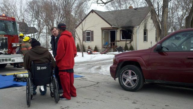 The homeowner is believed to be the man in the wheelchair.