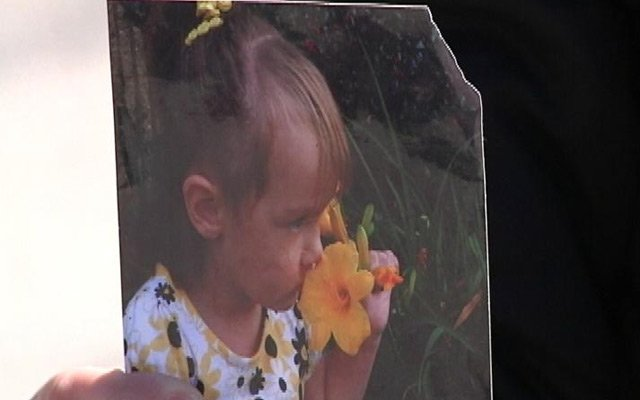 The victim, Breanna, age 3.