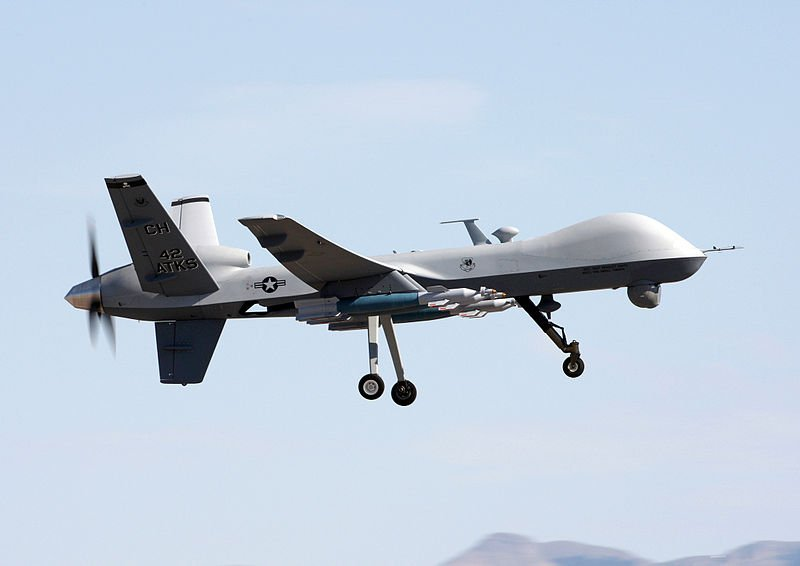 The MQ-9 Reaper unmanned aerial vehicle.