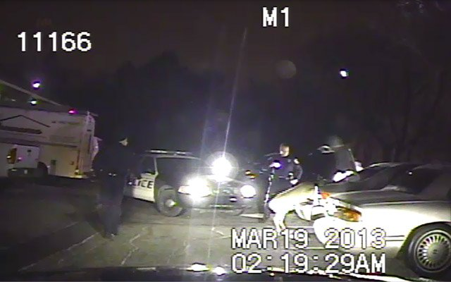 Not your ordinary traffic stop for two officers in Kalamazoo.