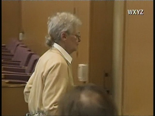 Sandra Layne follows deputies out of the courtroom on Tuesday.