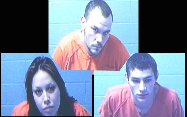 Rosalinda Martinez Charles Rowan and Michael Bowman being arraigned via video on Friday.