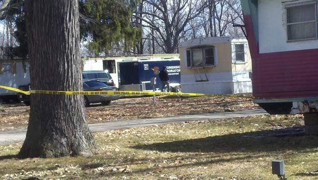 A view of the mobile home where Cole's body was found Wednesday.