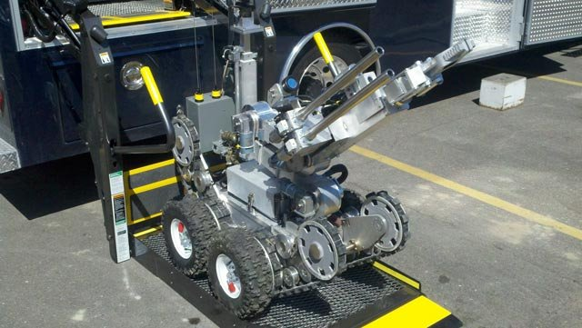 A new robot to help inspect and move potentially explosive materials.