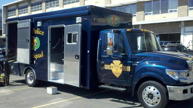 A brand new Flint Police bomb squad truck.