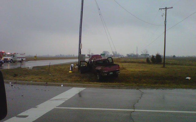 Another view of the crash scene.