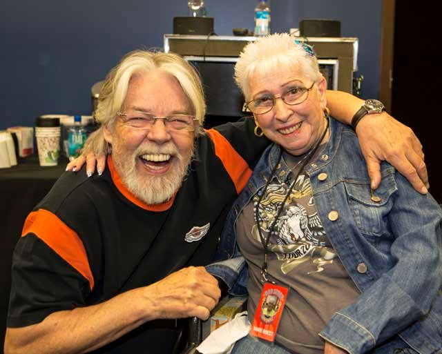 Evie Branan meets Bob Seger at Thursday night's concert.