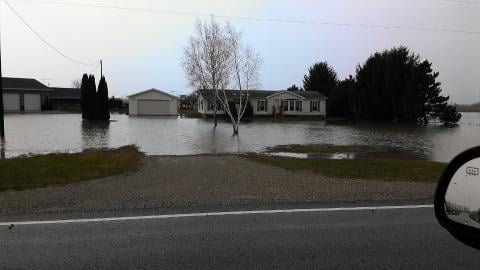 Flooding in Mid-Michigan on Thursday morning.