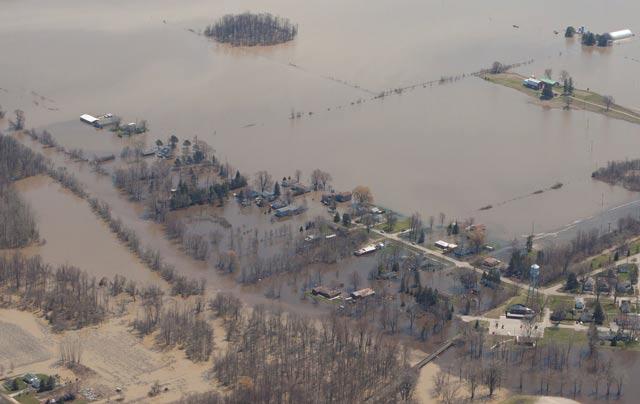 Parts of St. Charles underwater.