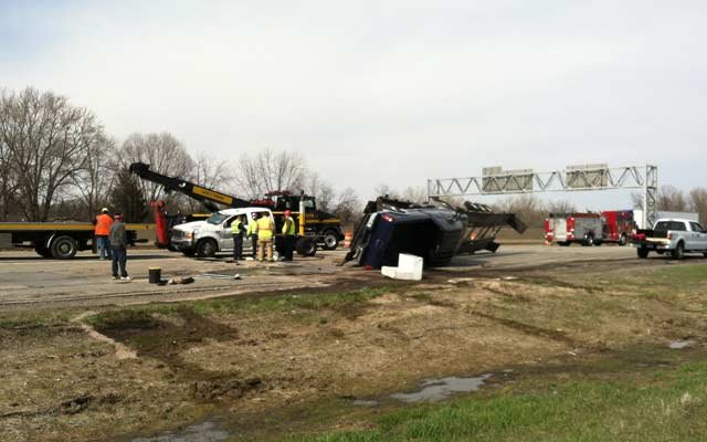 Another view of the crash scene on Friday afternoon.