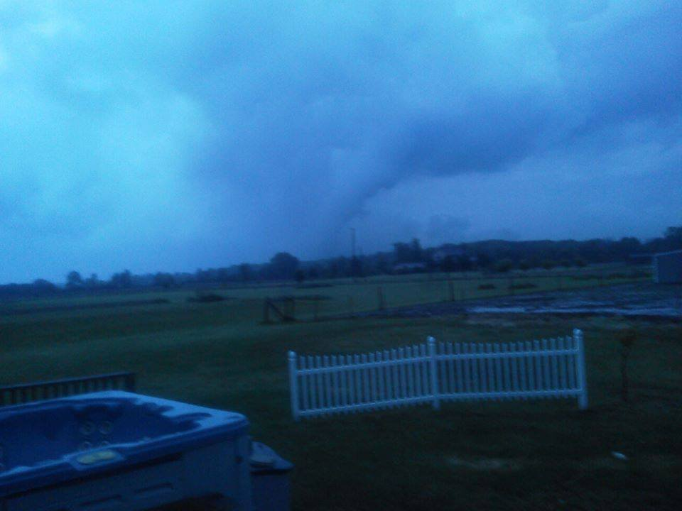 This photo was taken by Dianna Dell Stroud's brother near Grand Blanc and Sheridan roads Tuesday night.