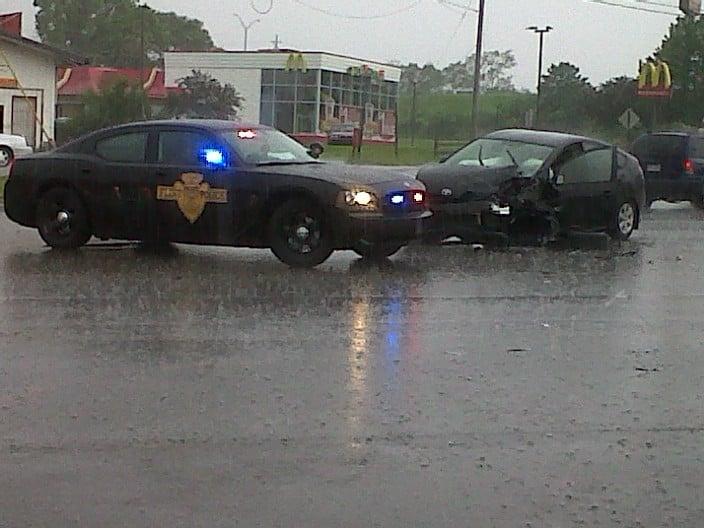A view of the crash scene.