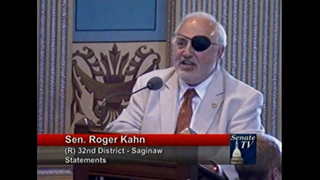 Sen. Roger Kahn, image courtesy of YouTube and Senate TV.